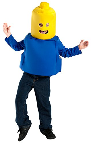 Child Blue Toy Block Man Costume with Headpiece