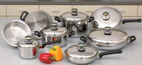 Chef's Secret 14 Piece Element Cookware with Thermo Control Knobs