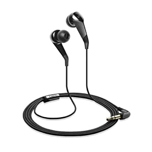JVC HAFR36B Marshmallow Inner Ear Headphones with Microphone and Remote (Black) (Discontinued by Manufacturer)