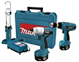41AC4HE2TNL. SL160  Makita 6935FDWDEX 14.4 Volt NiMH Cordless Impact Driver Kit with 6337 MForce Drill and ML143 Fluorescent Work Light