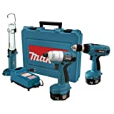 Makita 6935FDWDEX 14.4-Volt NiMH Cordless Impact Driver Kit with 6337 MForce Drill and ML143 Fluorescent Work Light ~ Makita