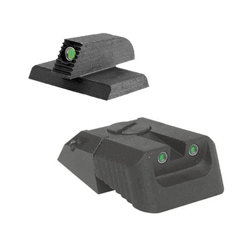 "Kensight DAS 1911 Defense Adjustable Rear Sight Set Tritium insert - Night Sights with Recessed Blade - 0.200"" Front Sight"