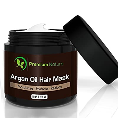 Argan Oil Hair Mask, Deep Conditioner 8 oz, damaged hair Repair, Limited Edition, By Premium Nature