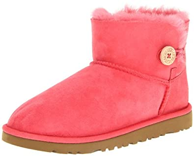 UGG Australia Girl's Mini Bailey Button Boot (04, Flamingo Pink)