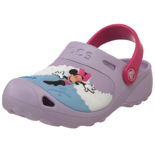 Crocs Minnie Makin Waves Clog (Toddler/Little Kid),Lavender/Fuchsia,2 M US Little Kid/ 4 M US Women's