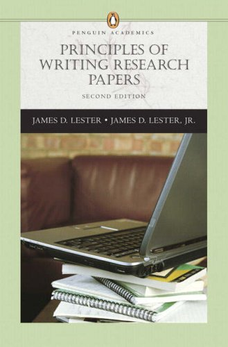 writing research papers by james lester