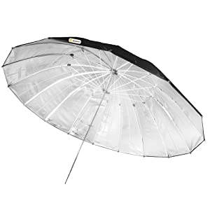"Neewer® Professional 55""/140cm Reflector Umbrella for Studio Light Flash Black"