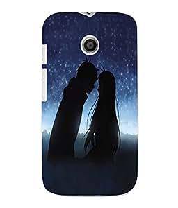 Fuson 3D Printed Valentine Wallpaper Designer Back Case Cover for Motorola Moto E - D716