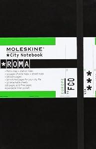 Moleskine City Notebook ROME Couverture rigide noire 9 x 14 cm