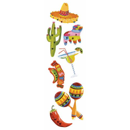 Fiesta Time Gemstone Stickers (1 per package)