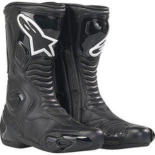 Alpinestars S-MX 5 Boots , Distinct Name: Black, Gender: Mens/Unisex, Size: 8, Primary Color: Black 2223091042