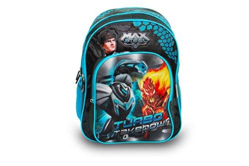 Genius Lil Genius Max Steel Blue School Bag (LG MX 1401 V-XL_BLE) (Multicolor)