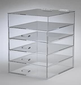 Acrylic Lucite Clear Makeup Organizer W/drawers