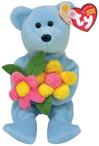 Ty Bluebonnet - Blue Bear with Flowers