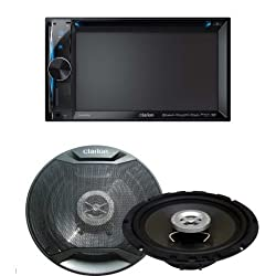 See Clarion NX602 DVD Receiver and SRE1601R Speaker Bundle Details