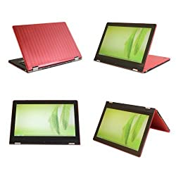 iPearl mCover Hard Shell Case for 13 Lenovo IdeaPad Yoga 13 laptop (Red)