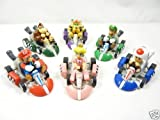 Mario Kart Cars Pull - Backs Figure Set
