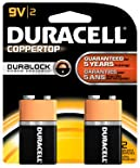 Duracell Coppertop Alkaline Battery, 9V, 2 ct.