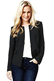 Petite Peplum Plain Tailored Jacket