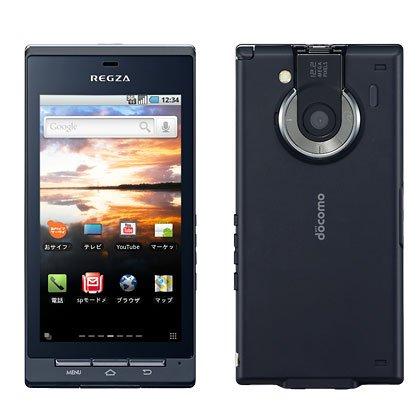 docomo REGZA Phone T-01C ブラック Android スマートフォン 白ロム 携帯電話本体 標準セット