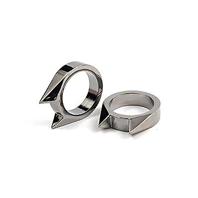 G-JMD Handmade Stainless Steel Self Defence Survival Tool EDC Defensive cat ears ring by G-JMD