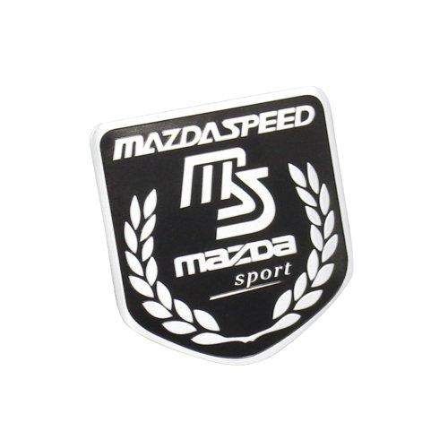 Side Rear Decal Mazdaspeed Emblem Badge Sticker For Mazda Racing Sport Black (Black Mazda 6 Emblem compare prices)