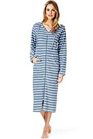 Per Una Striped Zip Through Dressing Gown