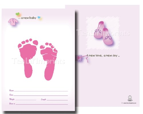 TenLil'Imprints Birth Announcement Kit, Pink