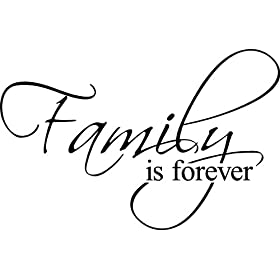 Family Is Forever vinyl lettering wall art saying home decor