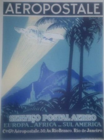 franzosich-vintage-plakat-50x70cm-retro-werbung-nordafrika-flugzeug-aeropostale