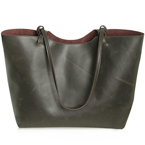 Jack&Chris®New Women Ladies' Genuine Leather Tote Bag Handbag Shoulder Bag, YSZ-105