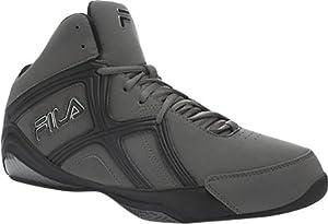 Fila Men's Revenge 2 Basketball Shoe,Pewter/Black/Metallic Silver,10 M US