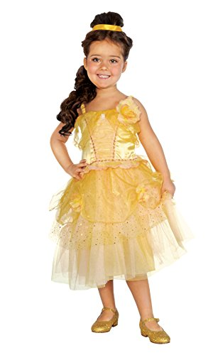 Rubies Golden Princess Deluxe Costume Dress, Toddler Size