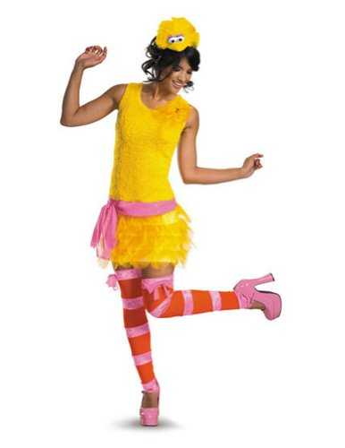 Big Bird Sassy Female 8-10 Adult Womens Costume