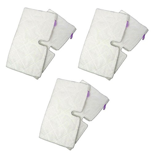 Shp-Zone Replacement Rectangle Microfiber Cleaning Pads Suitable For Euro-Pro Shark Steam Mop S3501 (Pack Of 6) front-629342