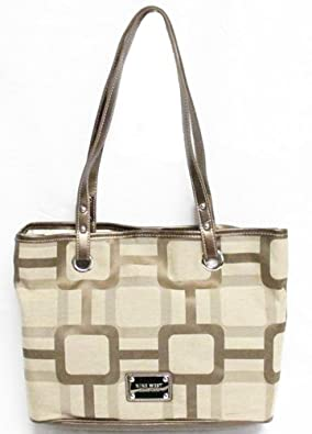 Nine West Reno Signs Version 2 Medium Tote (Khaki-Light Bronze)