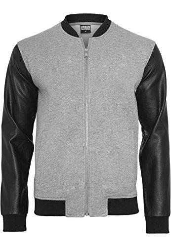 urban-classics-tb984-zipped-imitation-sleeve-leather-jacket-gry-blk-s