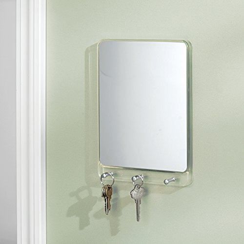 Bathroom mirror wall mount car key rack holder kitchen for Mirror key holder