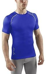SUB Sports HEAT Stay Cool Mens Semi Compression Top - Short Sleeve Base Layer - Royal - XXXL