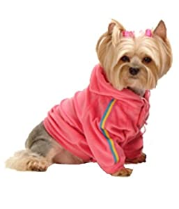 Max's Closet 90608-XS Hot Pink Velour Hoodie