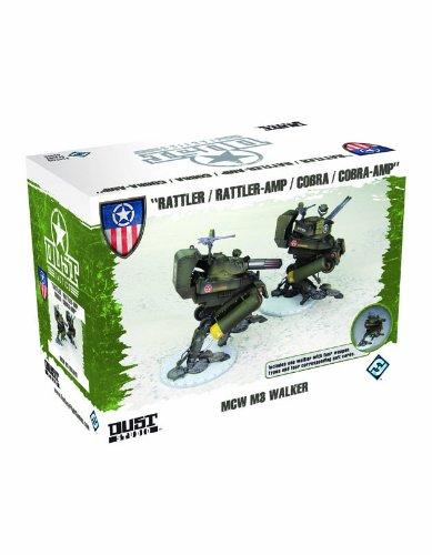 Fantasy Flight Games - Dust Tactics, Set di miniature di carri armati Mcw M3 Walker [lingua inglese]