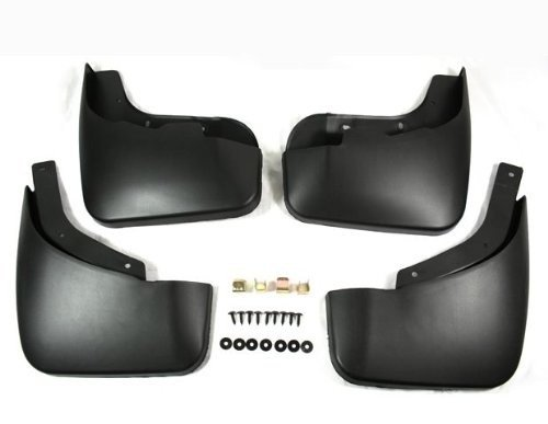 Black Auto parts 4PCS Mudguard Splash Guard Mud Flap Fit For Audi Q7 2007 2008 2009