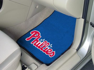 "Philadelphia Phillies 2-piece Carpeted Car Mats 18x27 "" "" at Amazon.com"