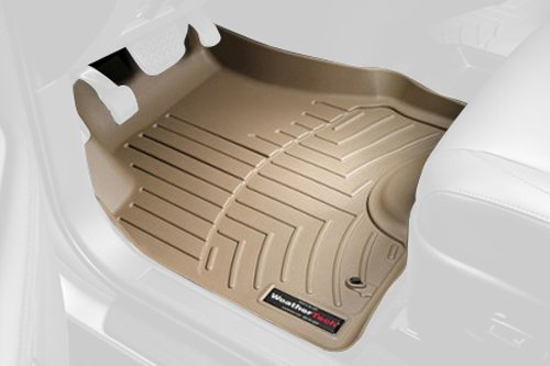 WeatherTech Custom Fit Front FloorLiner for Chevrolet Colorado Crew Cab, Tan