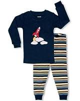 "Leveret Little Boy ""Space Rocket"" 2 Piece Pajama 100% Cotton (6M-7-8 Years)"