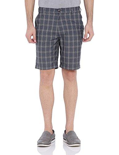 Blue-Wave-Dark-Grey-Checks-Casual-Shorts-for-Men
