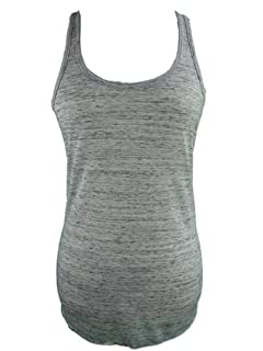 YogaColors Womens Emoticon Flowy Scoop Neck Tank Top (XX-Large, Speckled White)