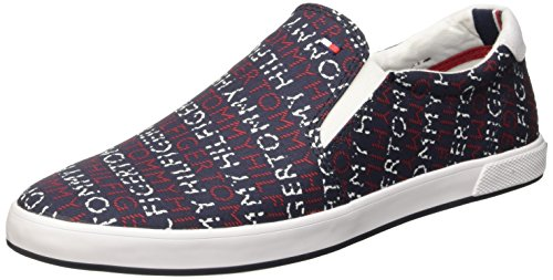 Tommy Hilfiger H2285ARLOW 2G Scarpe Low-Top, Uomo, Blu (Midnight Print 073), 43