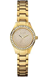 GUESS Women's U0230L2 Petite Sporty Radiance Gold-Tone Crystal Watch
