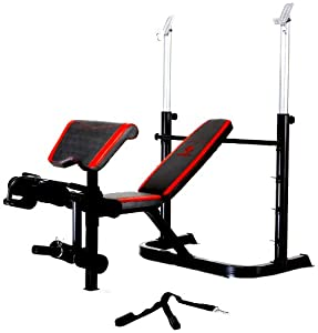 Marcy Diamond Deluxe Olympic Bench with Flip Arm Curl Pad